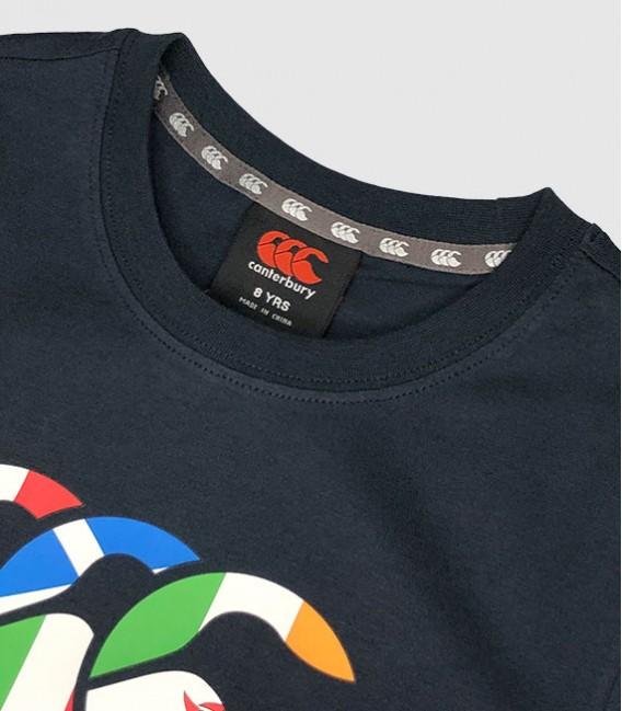 Camiseta junior Seis Naciones navy